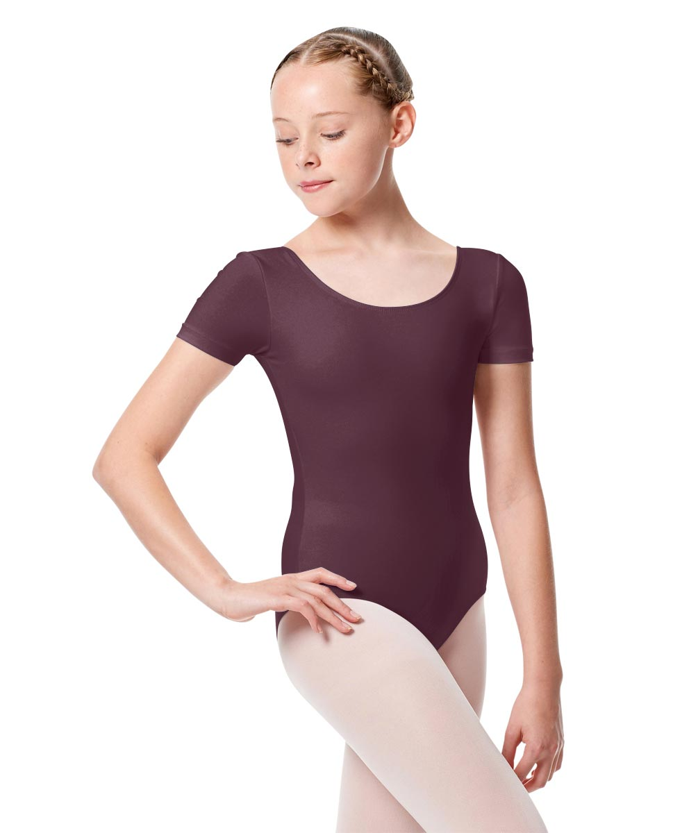 Girls Short Sleeve Leotard Tina AUB