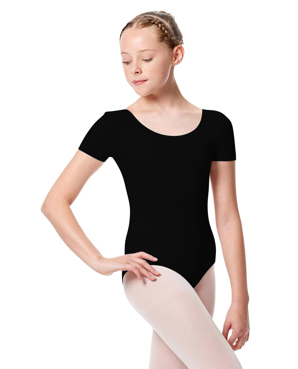 Girls Short Sleeve Leotard Tina BLK
