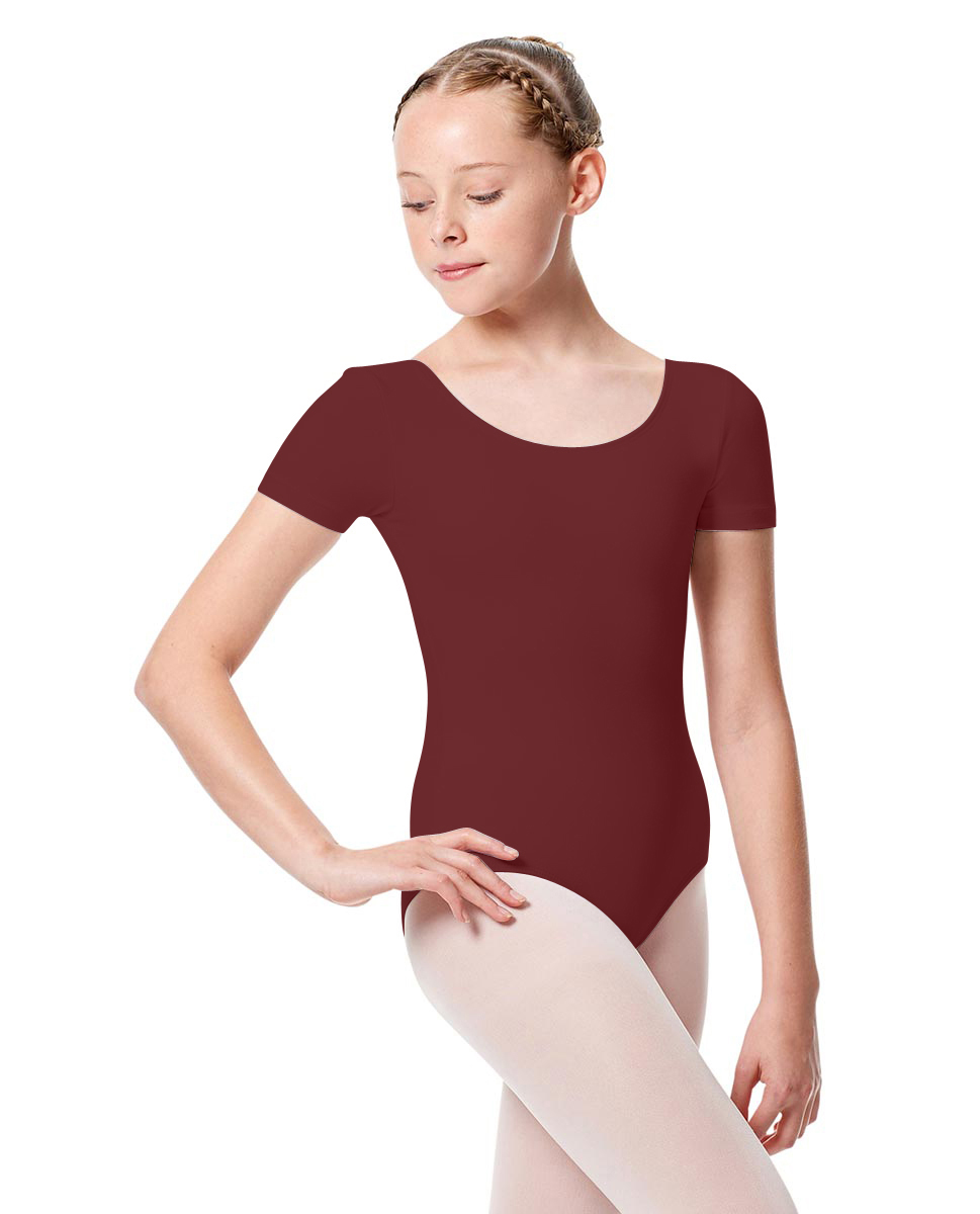 Girls Short Sleeve Leotard Tina BUR