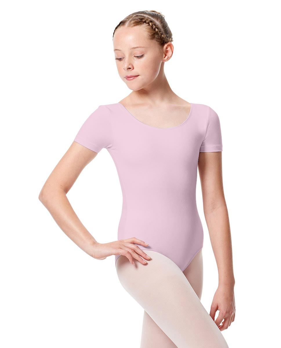 Girls Short Sleeve Leotard Tina PNK