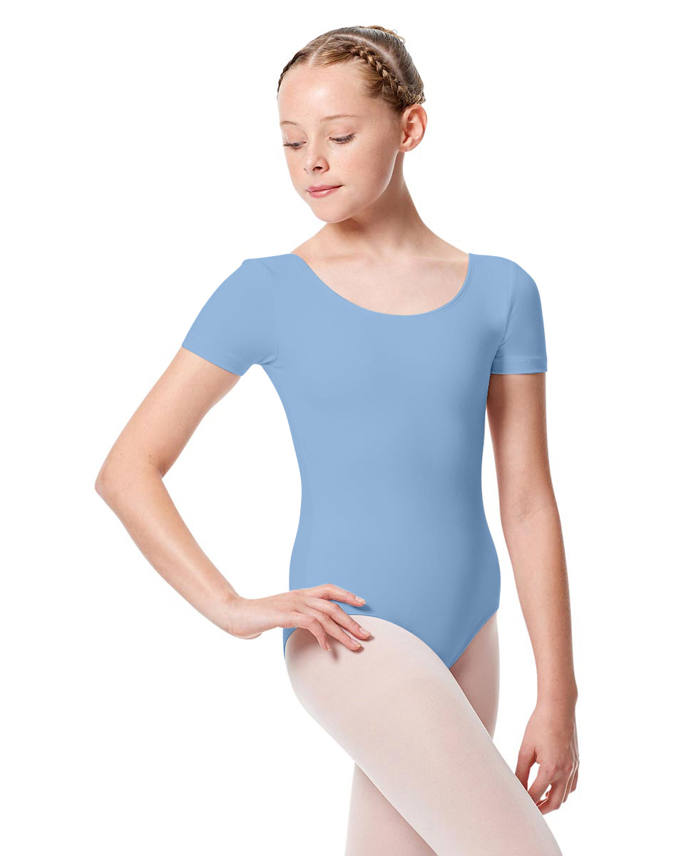 Girls Short Sleeve Leotard Tina SKY