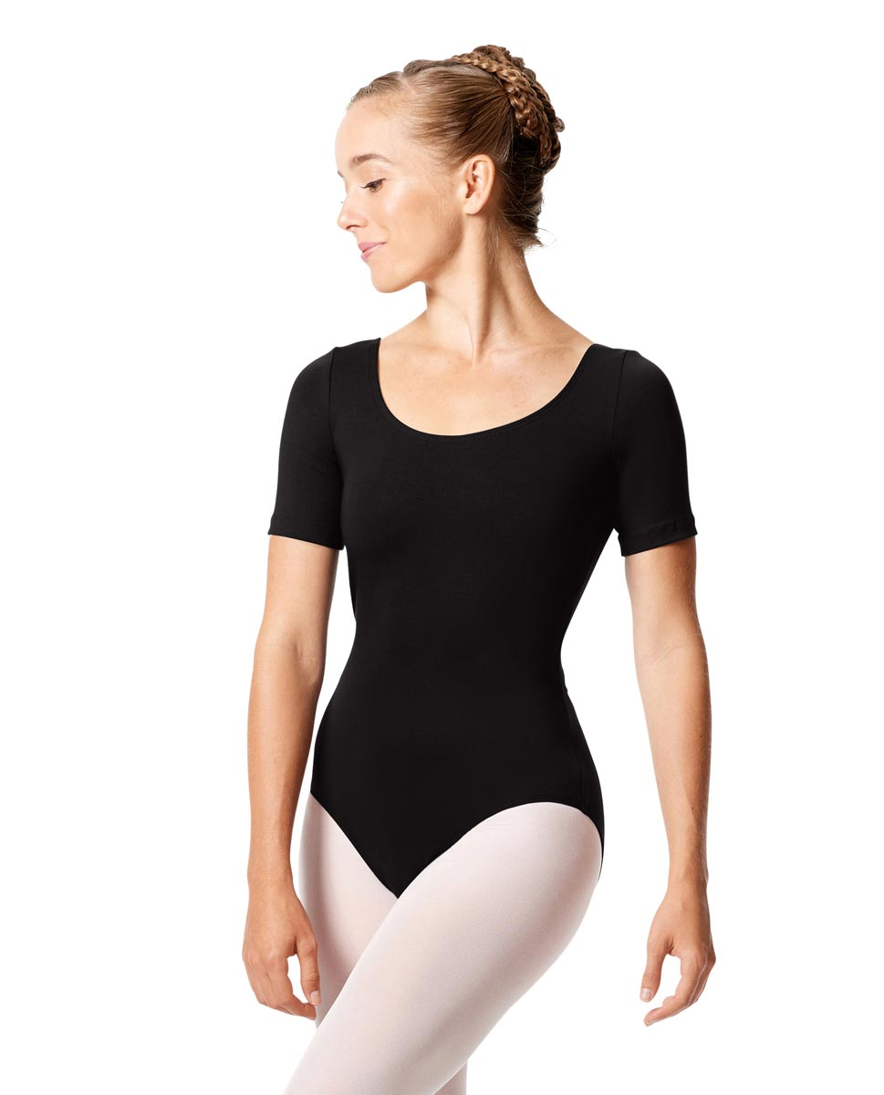 Short Sleeve Leotard Tina BLK
