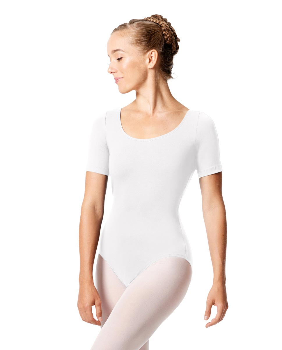Short Sleeve Leotard Tina WHI