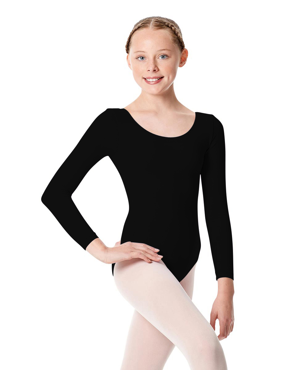 Girls Long Sleeve Leotard Martha BLK