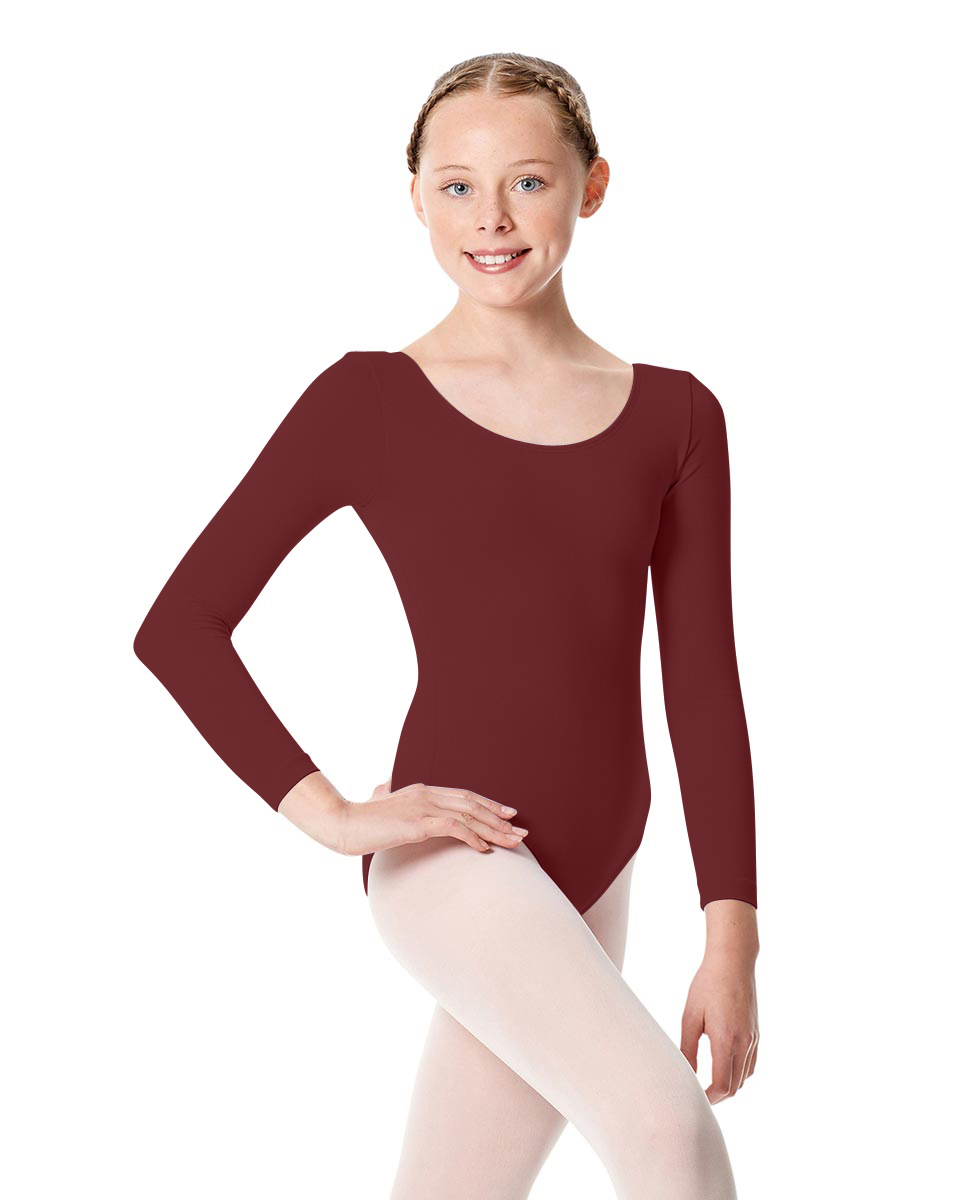 Girls Long Sleeve Leotard Martha BUR