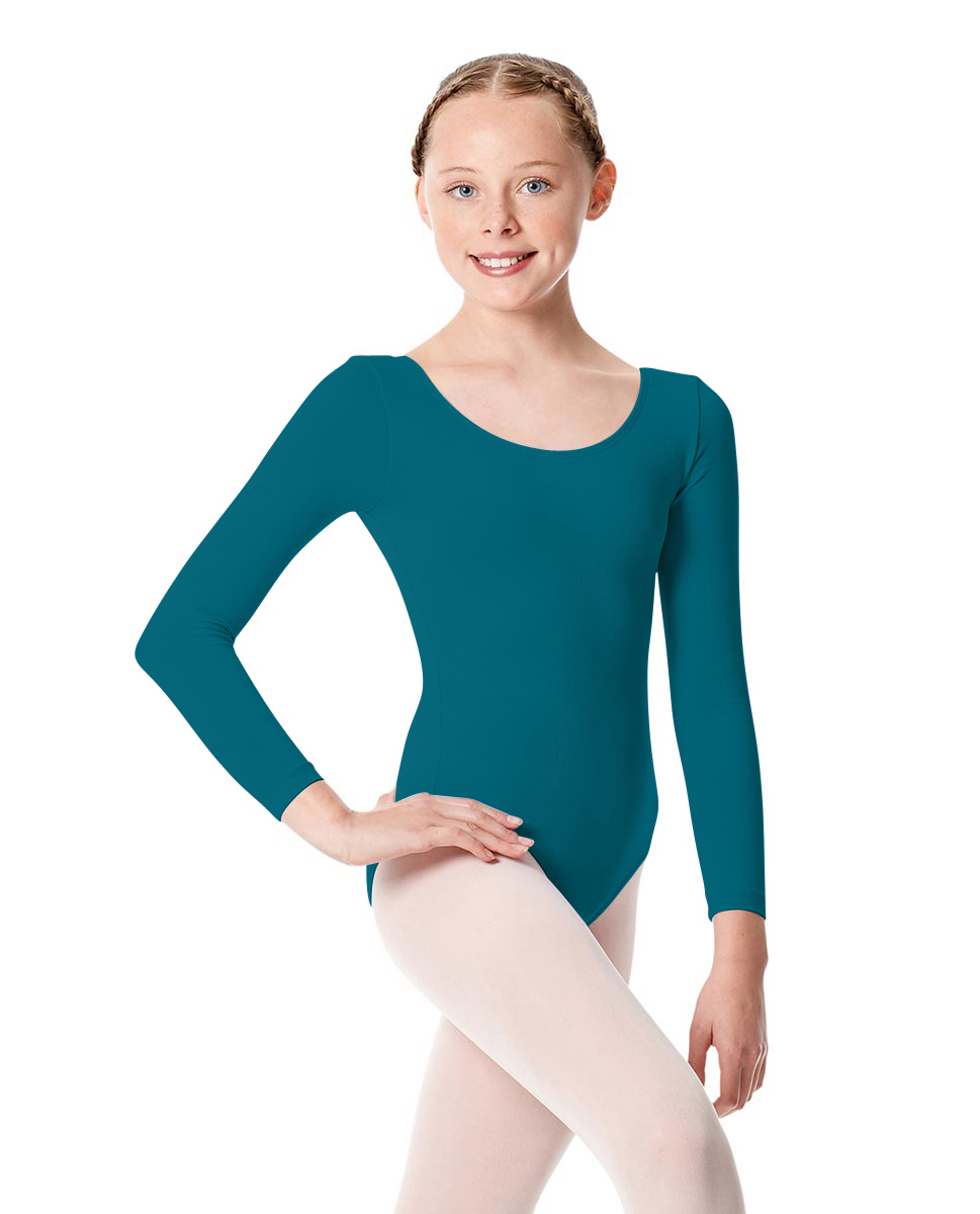 Girls Long Sleeve Leotard Martha TEA