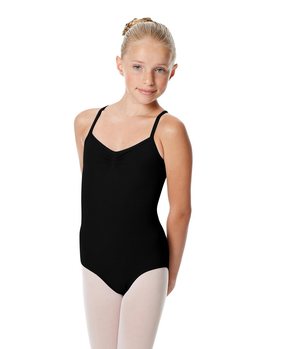 Girls Camisole Crisscross Leotard Jane BLK