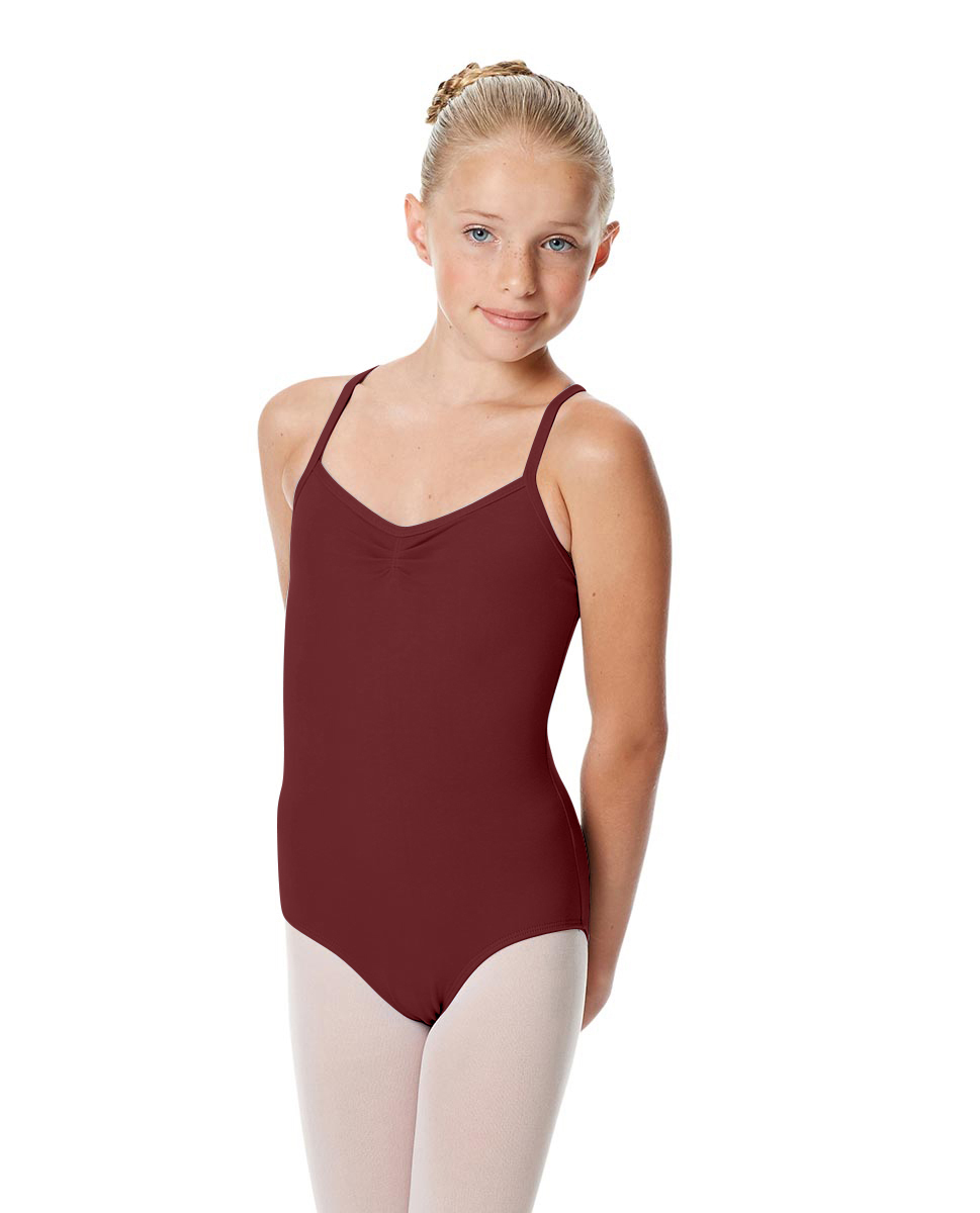 Girls Camisole Crisscross Leotard Jane BUR