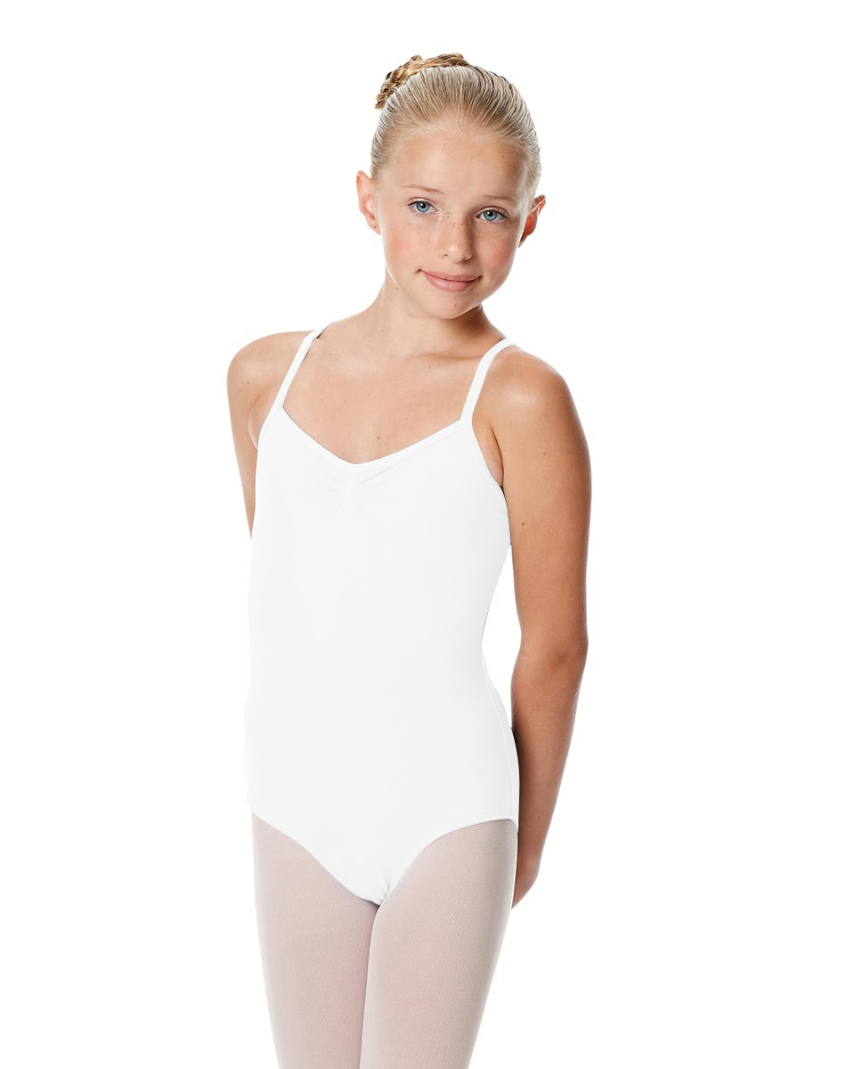 Girls Camisole Crisscross Leotard Jane WHI