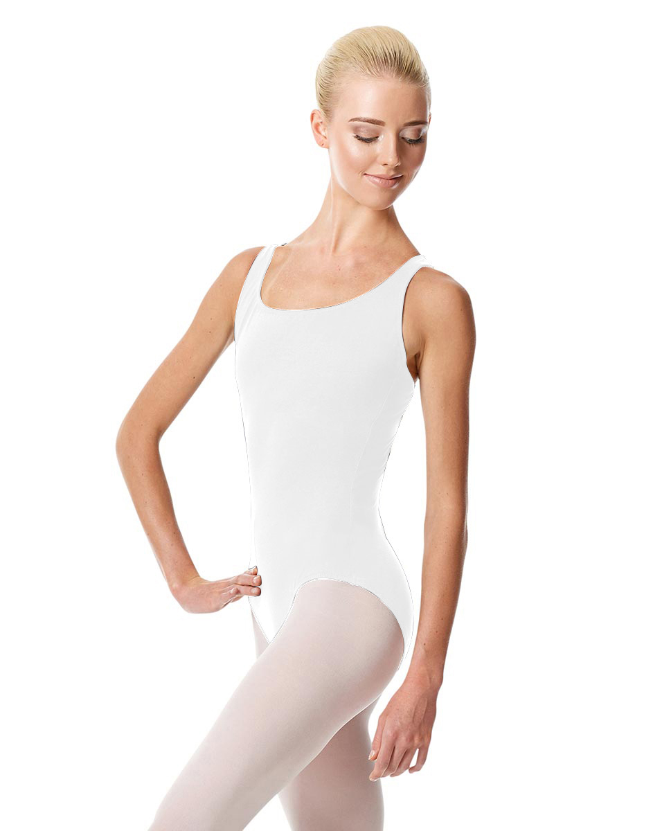 Tank Dance Leotard Theresa WHI