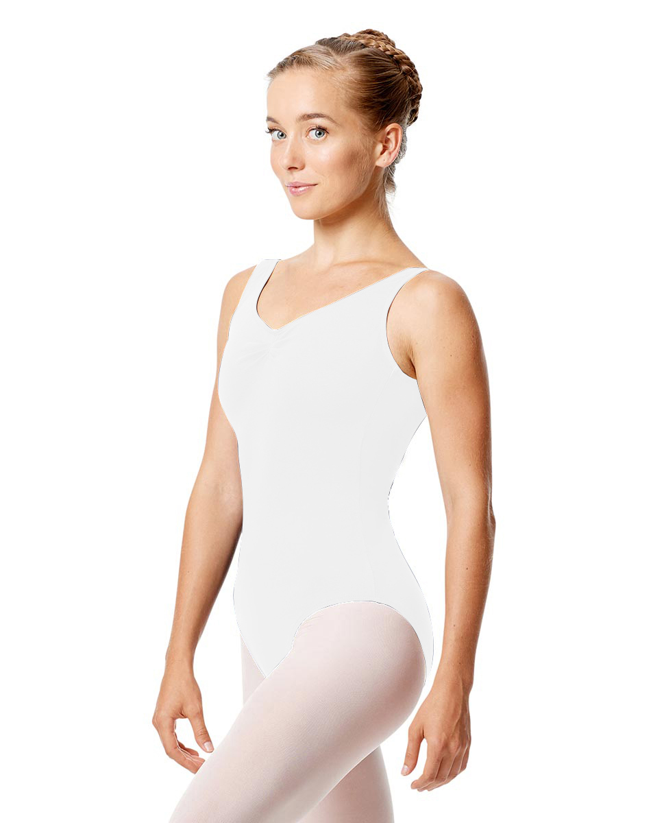 Tank Dance Leotard Shirley WHI
