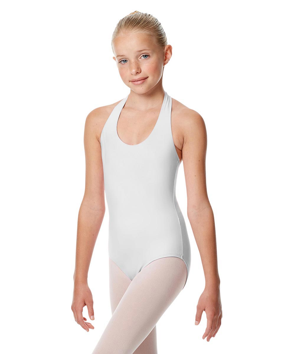Girls Halter Dance Leotard Tamara WHI