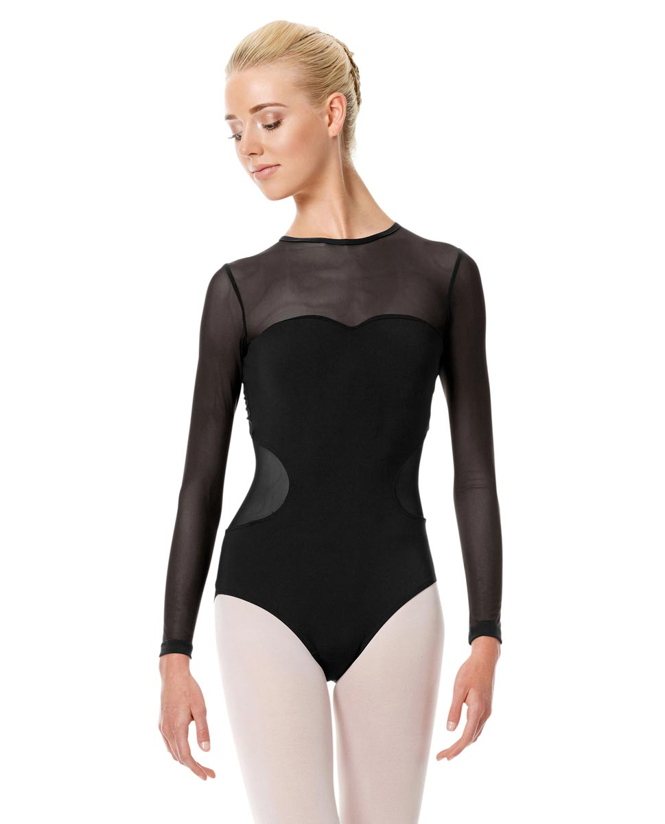 Long Sleeve Performance Leotard Renata BLK