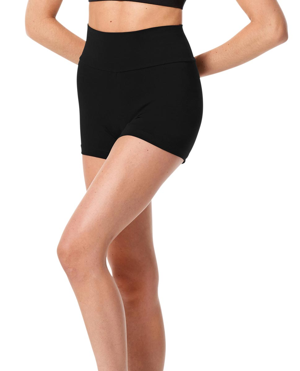 Wide Waistband Dance Shorts Janet BLK