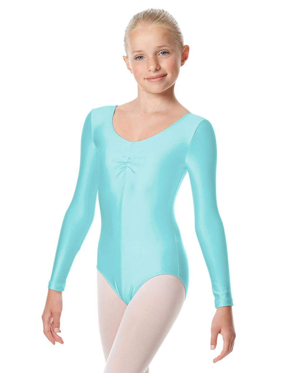 Girls Long Sleeve Ballet Leotard Giselle ABLU