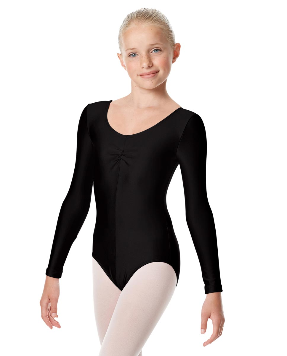 Girls Long Sleeve Ballet Leotard Giselle BLK