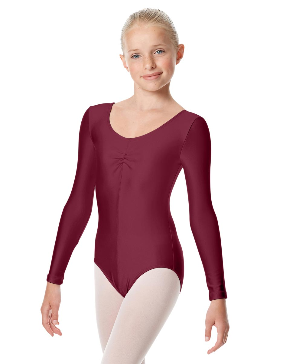Girls Long Sleeve Ballet Leotard Giselle BUR