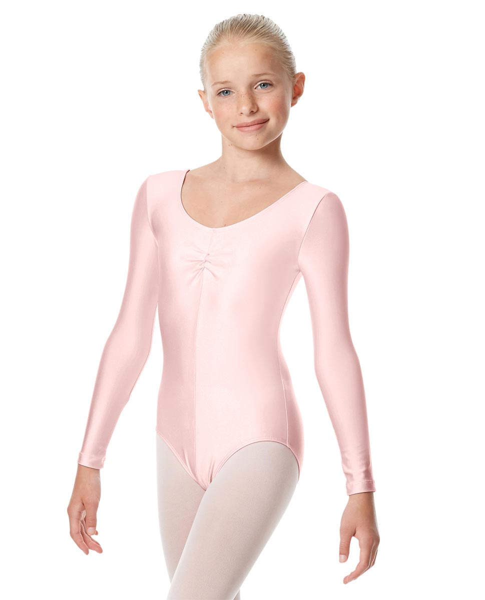 Girls Long Sleeve Ballet Leotard Giselle PNK