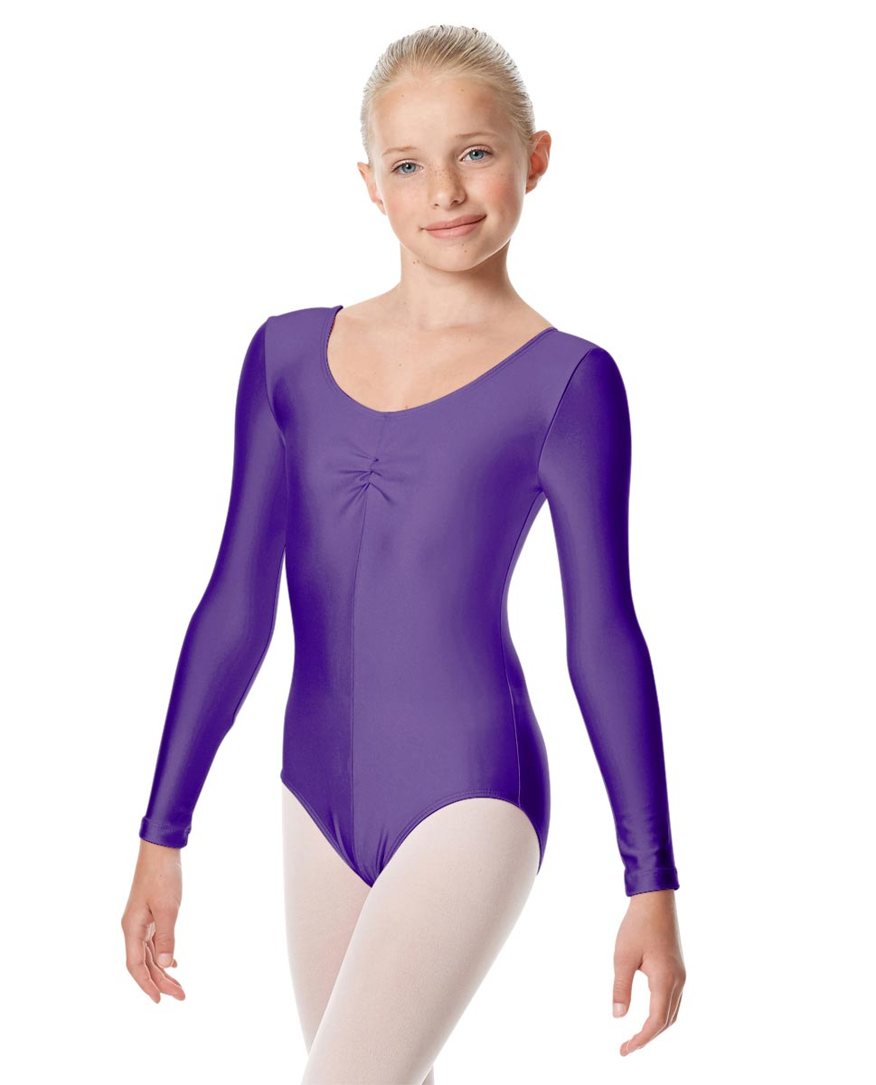 Girls Long Sleeve Ballet Leotard Giselle PUR