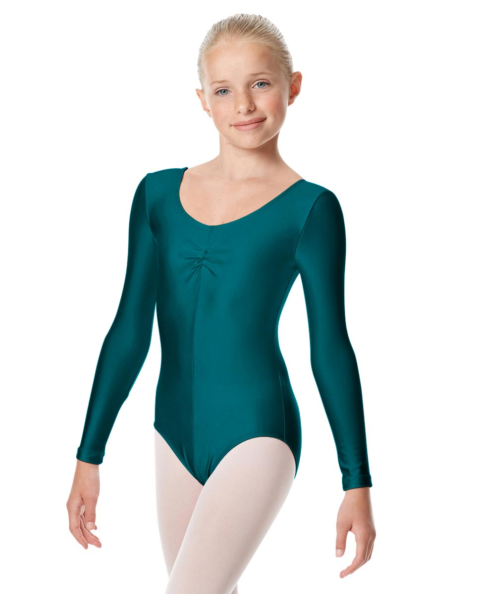 Girls Long Sleeve Ballet Leotard Giselle TEA