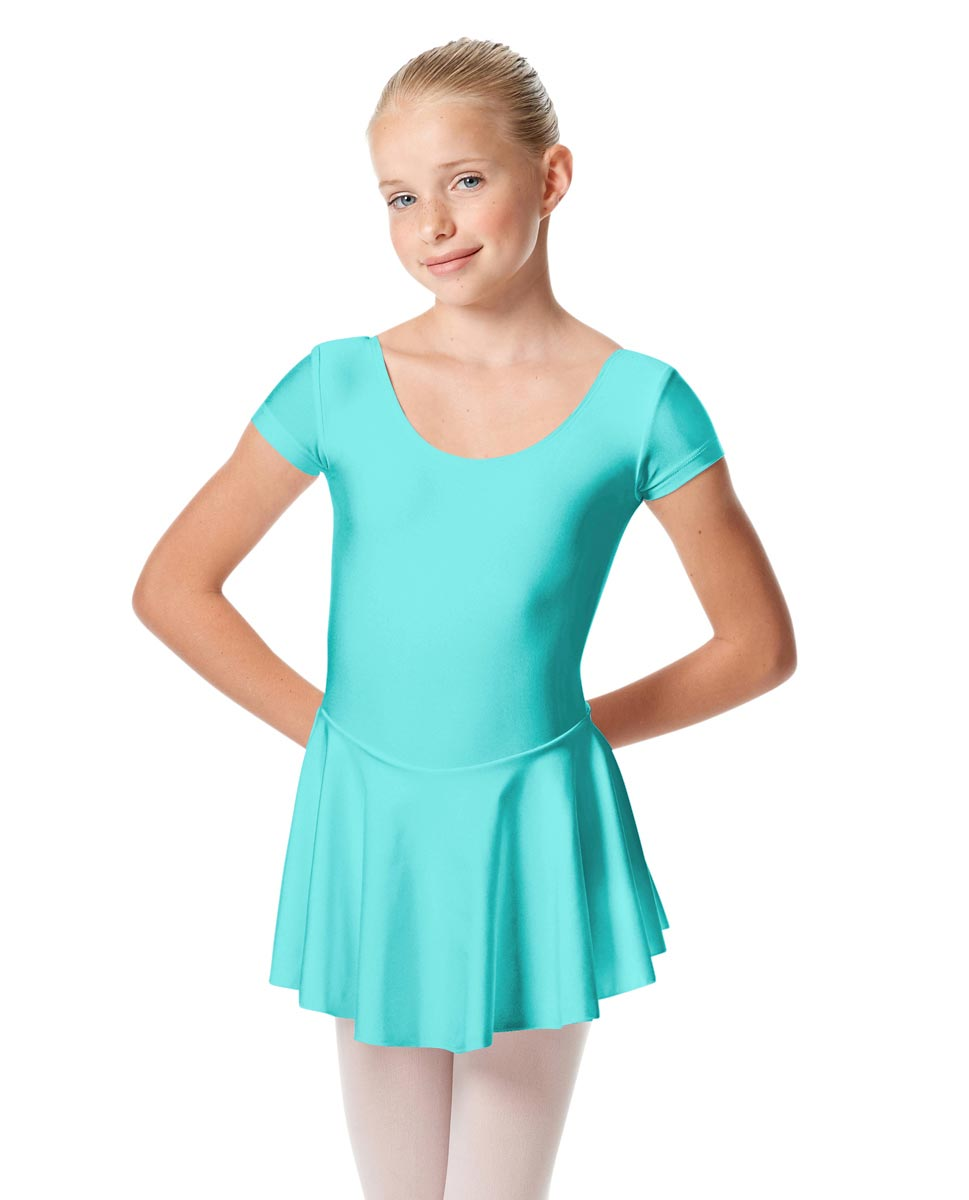 Girls Cap Sleeve Skirted Leotard Emmy ABLU
