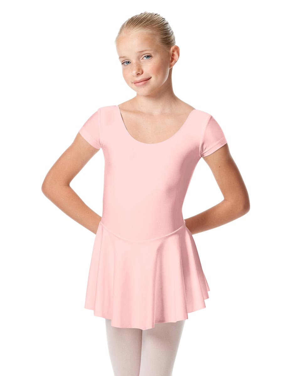 Girls Cap Sleeve Skirted Leotard Emmy PNK