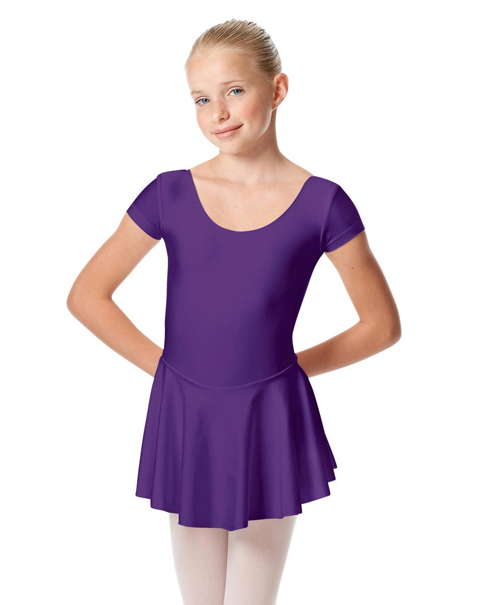 Girls Cap Sleeve Skirted Leotard Emmy PUR