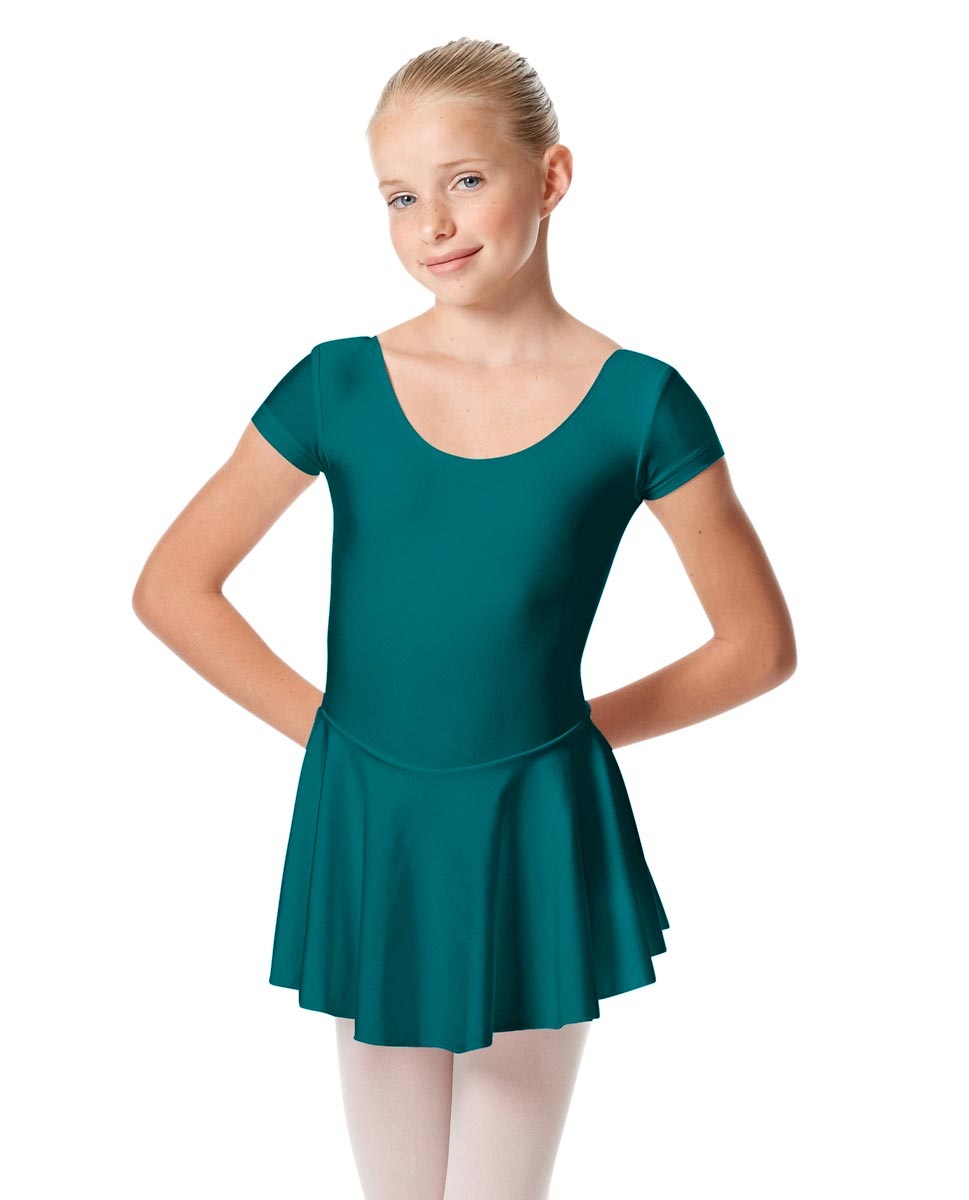 Girls Cap Sleeve Skirted Leotard Emmy TEA