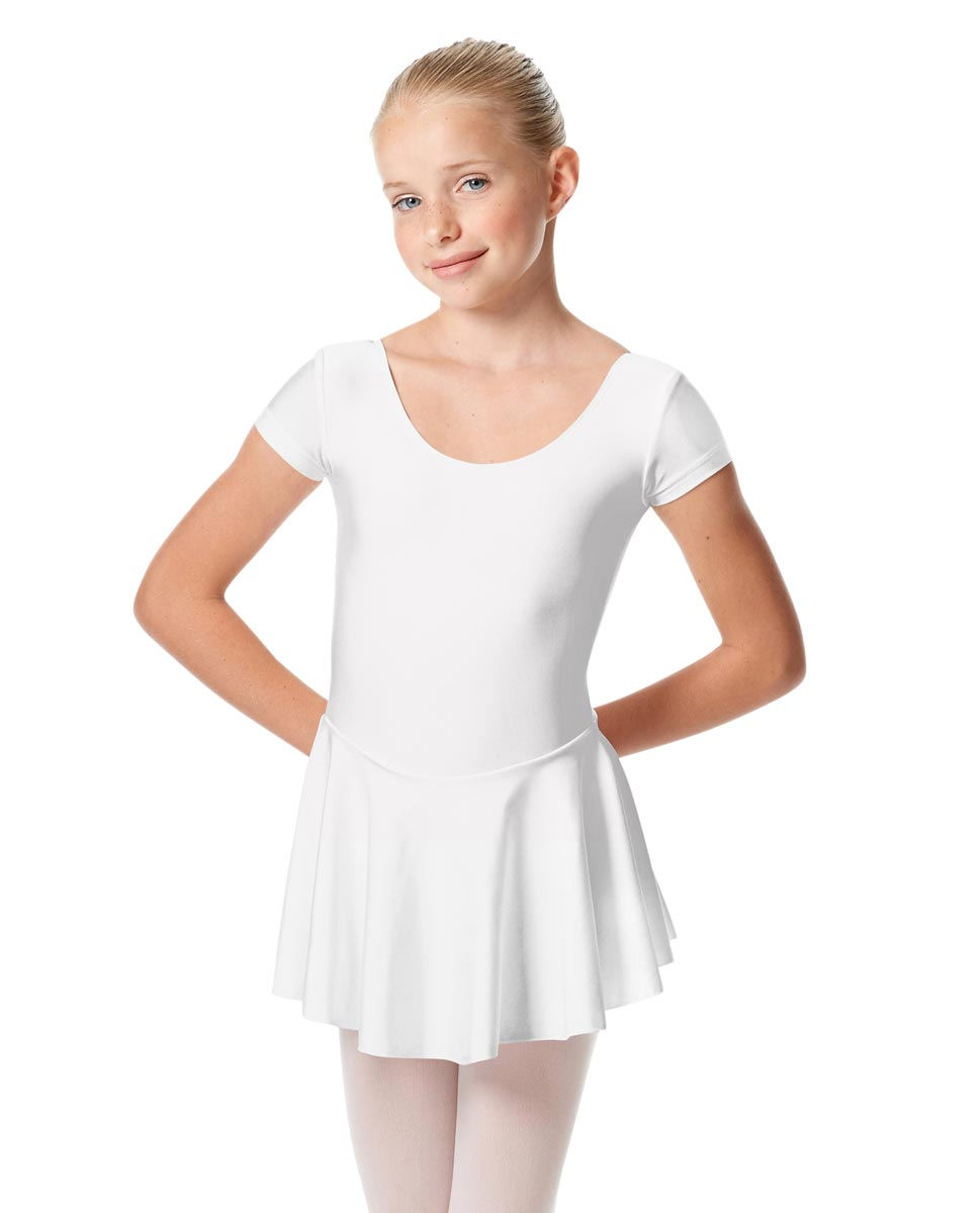 Girls Cap Sleeve Skirted Leotard Emmy WHI