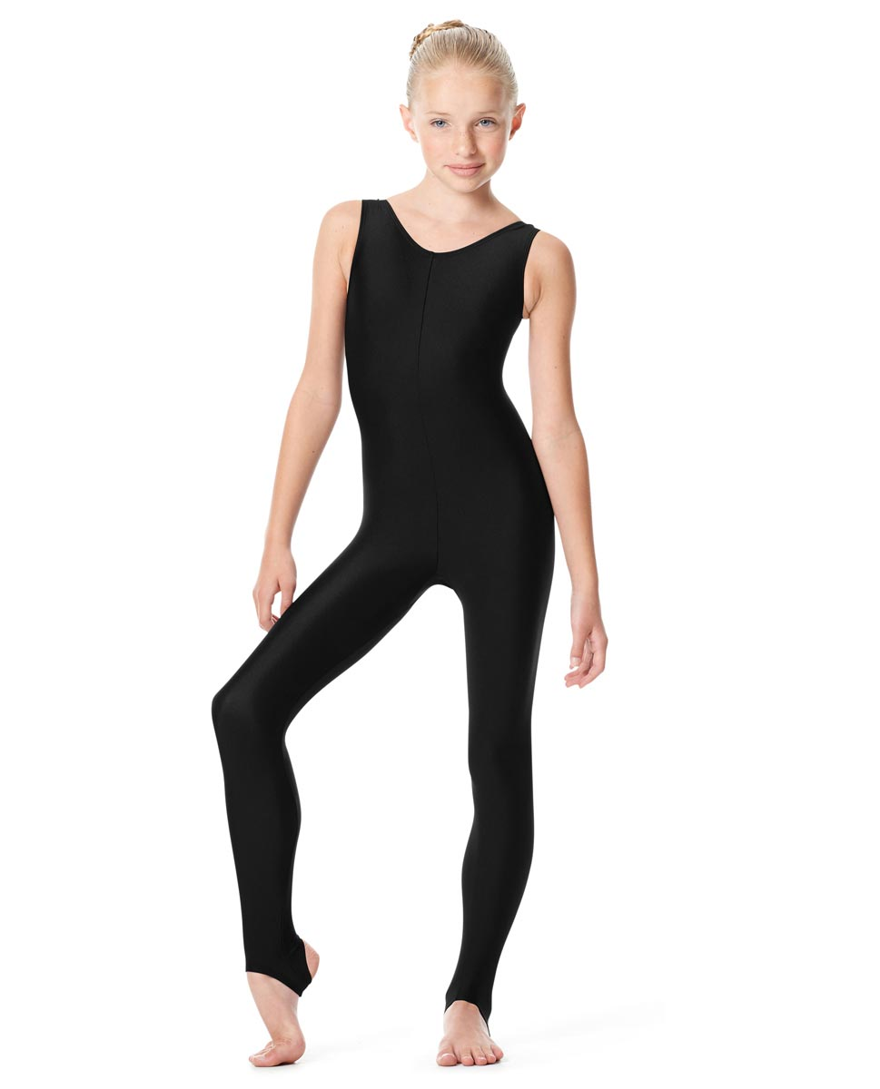 Girls Tank Unitard Matilde BLK