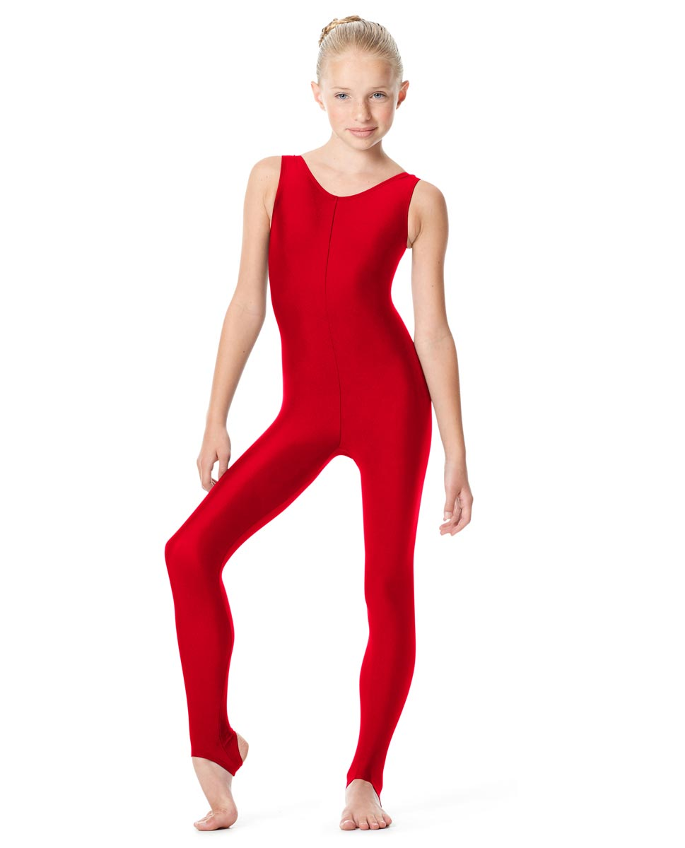 Girls Tank Unitard Matilde RED