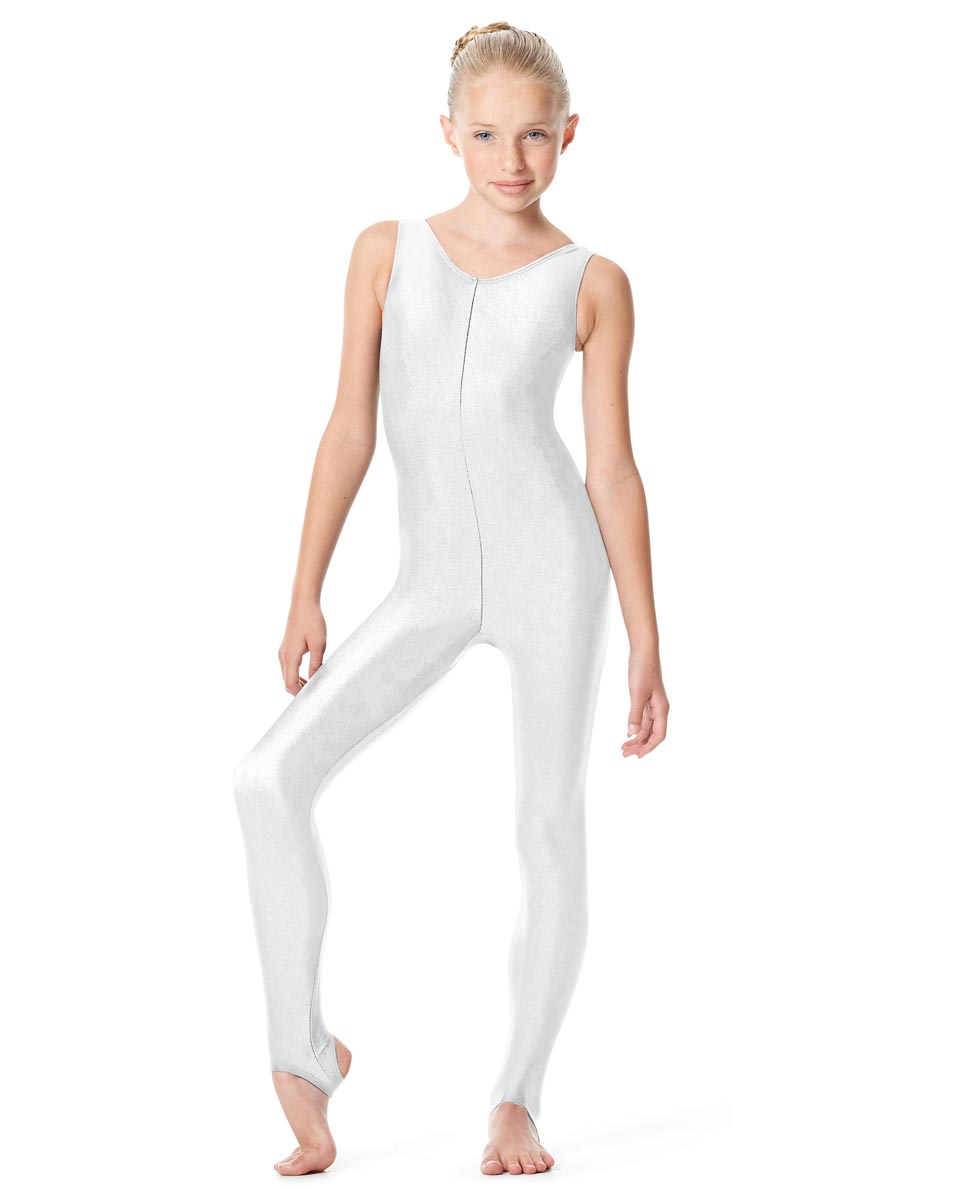 Girls Tank Unitard Matilde WHI