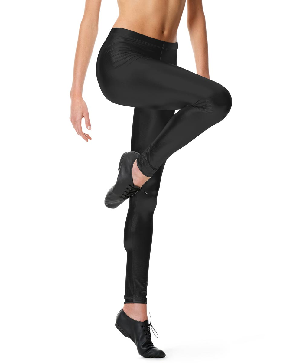 Metallic Ankle Leggings Nadine BLK