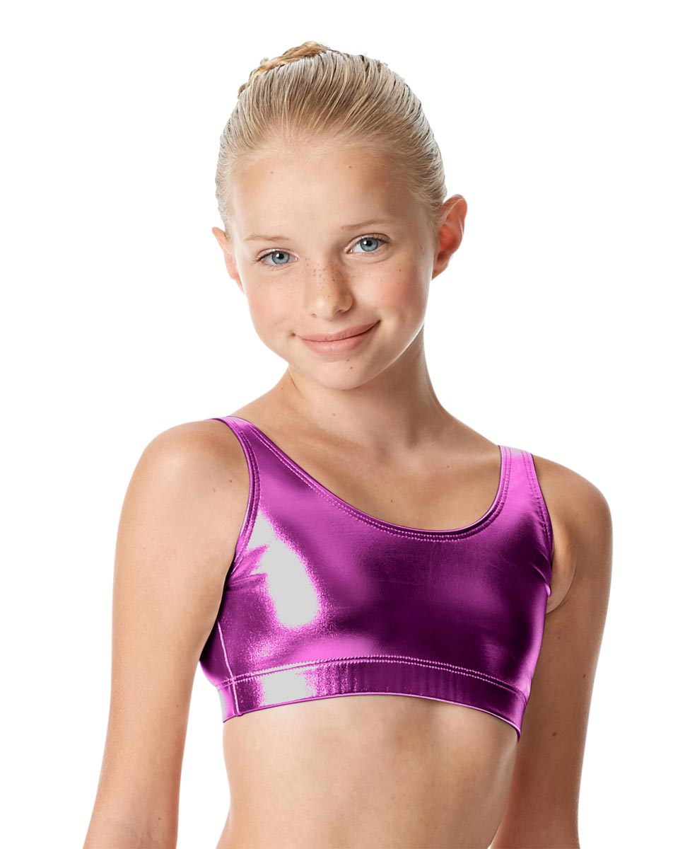 Girls Metallic Tank Top Roberta PUR