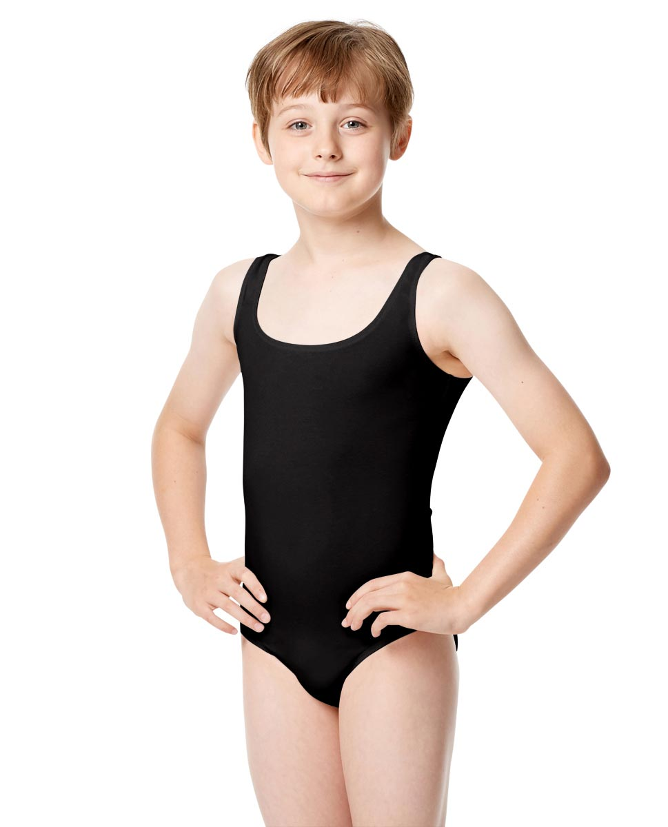 Boys Tank Leotard Mark BLK