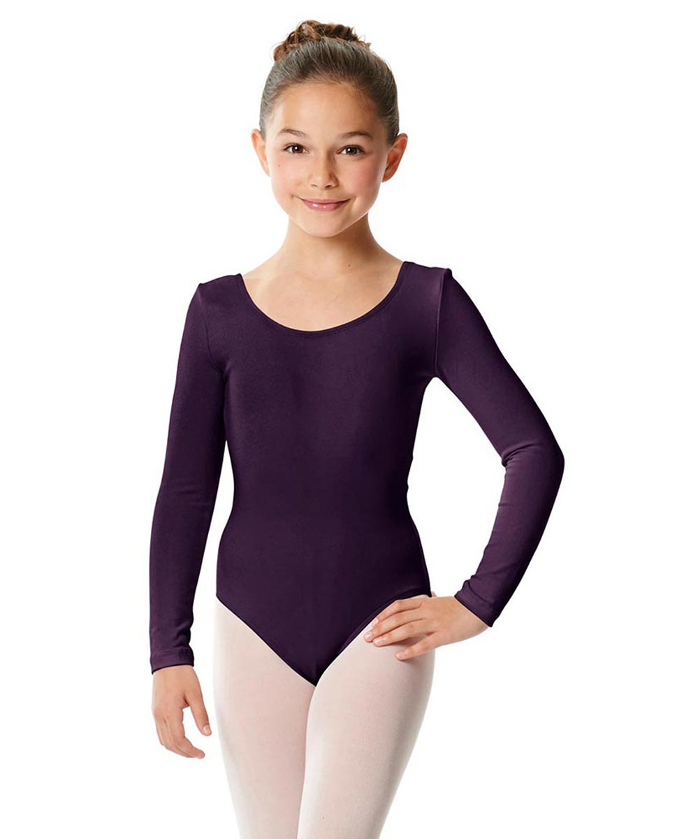 Girls Long Sleeve Cotton Ballet Leotard Liv AUB