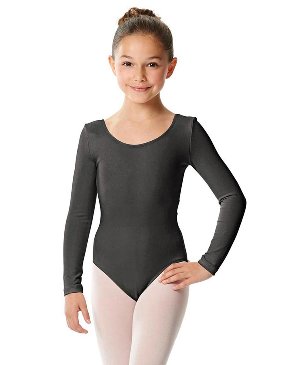 Girls Long Sleeve Cotton Ballet Leotard Liv DGRE