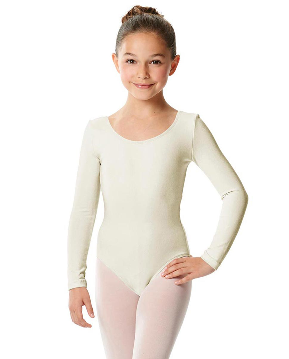 Girls Long Sleeve Cotton Ballet Leotard Liv IVOR