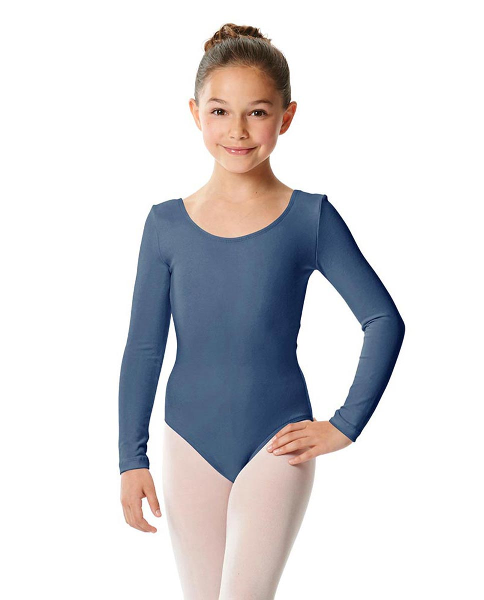 Girls Long Sleeve Cotton Ballet Leotard Liv JEA