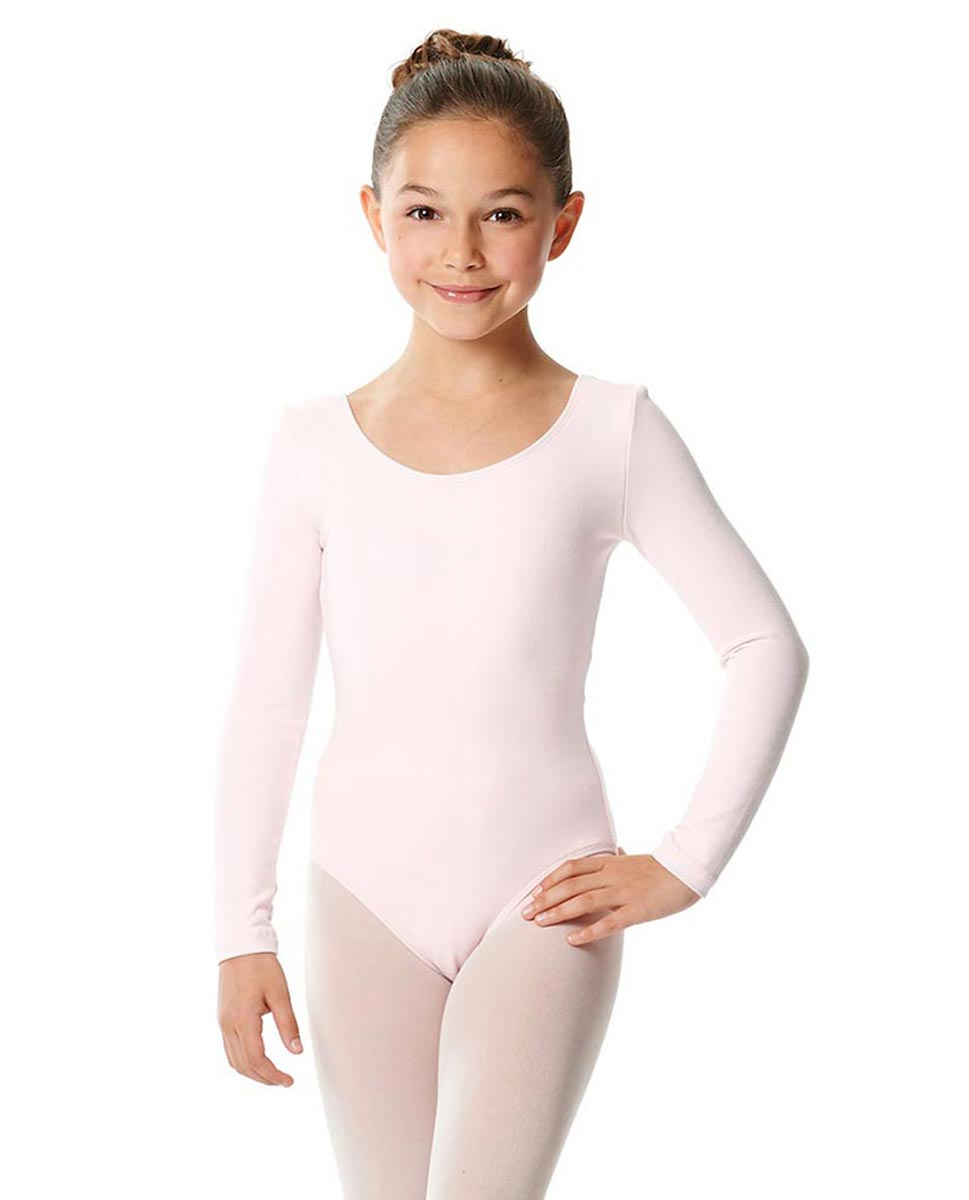 Girls Long Sleeve Cotton Ballet Leotard Liv LPNK