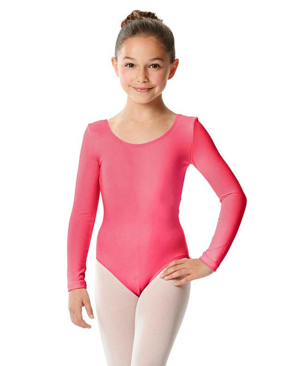 Girls Long Sleeve Cotton Ballet Leotard Liv ROS