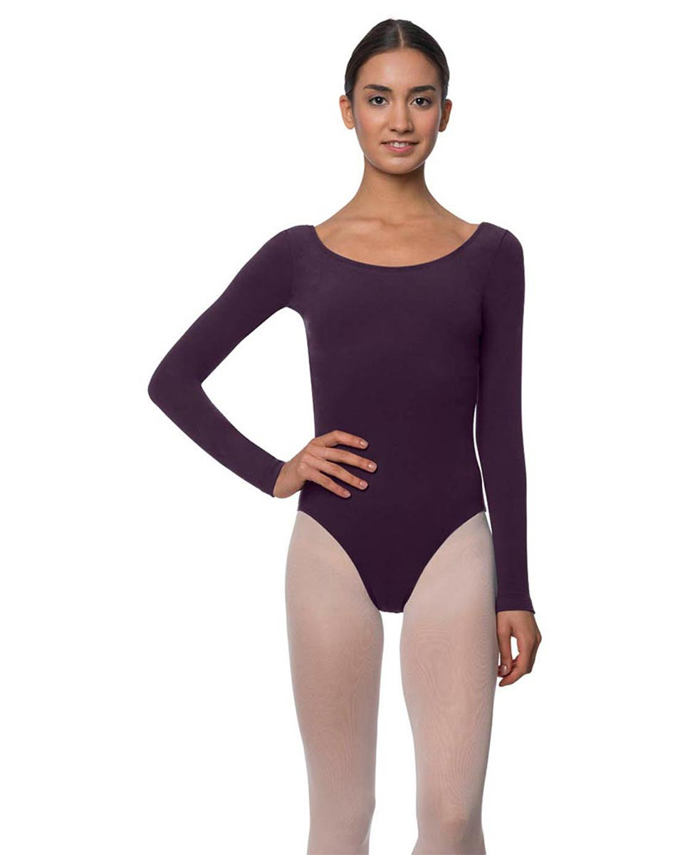Long Sleeve Cotton Ballet Leotard Liv AUB