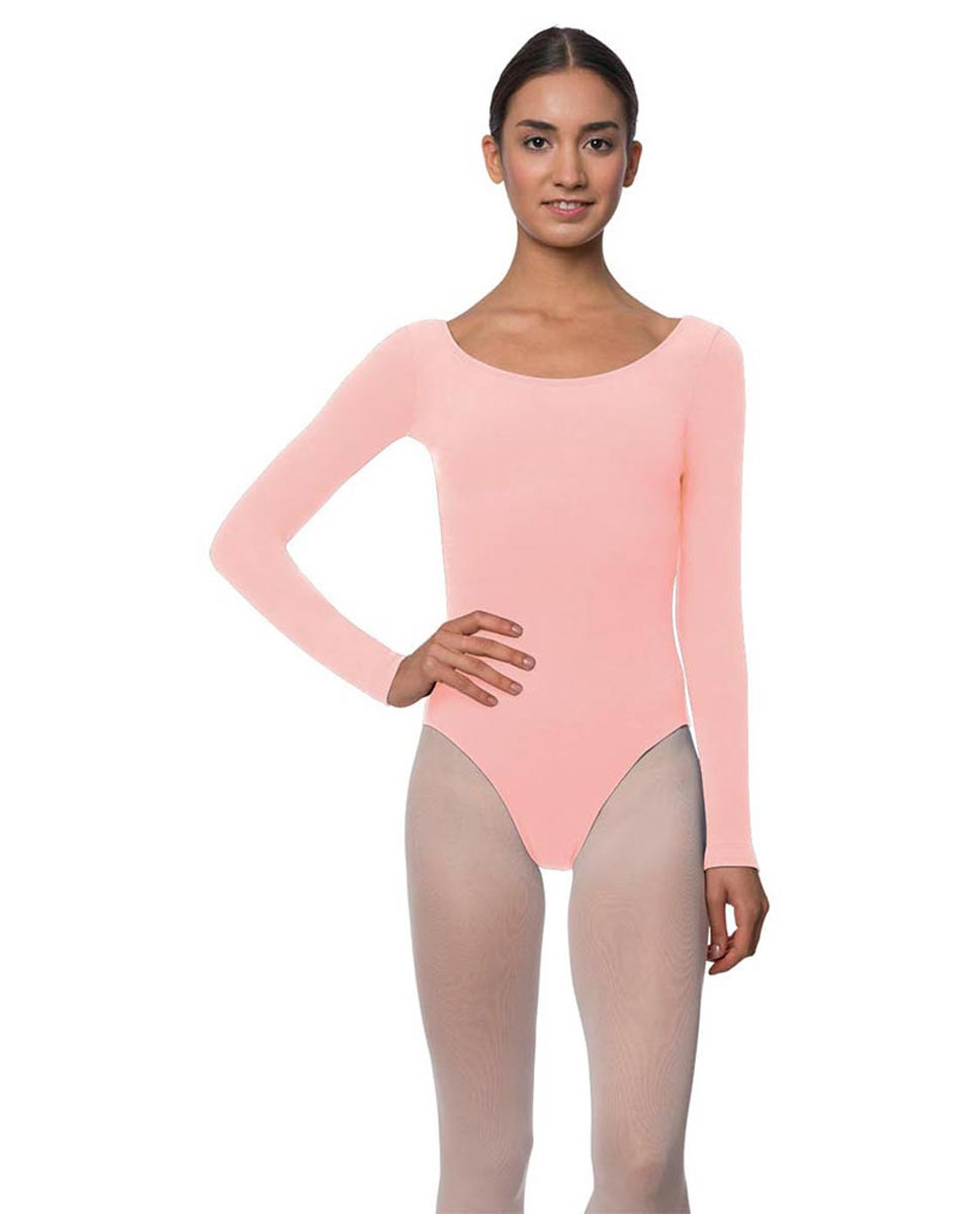 Long Sleeve Cotton Ballet Leotard Liv BPINK