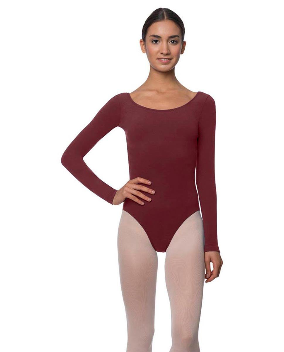 Long Sleeve Cotton Ballet Leotard Liv BUR