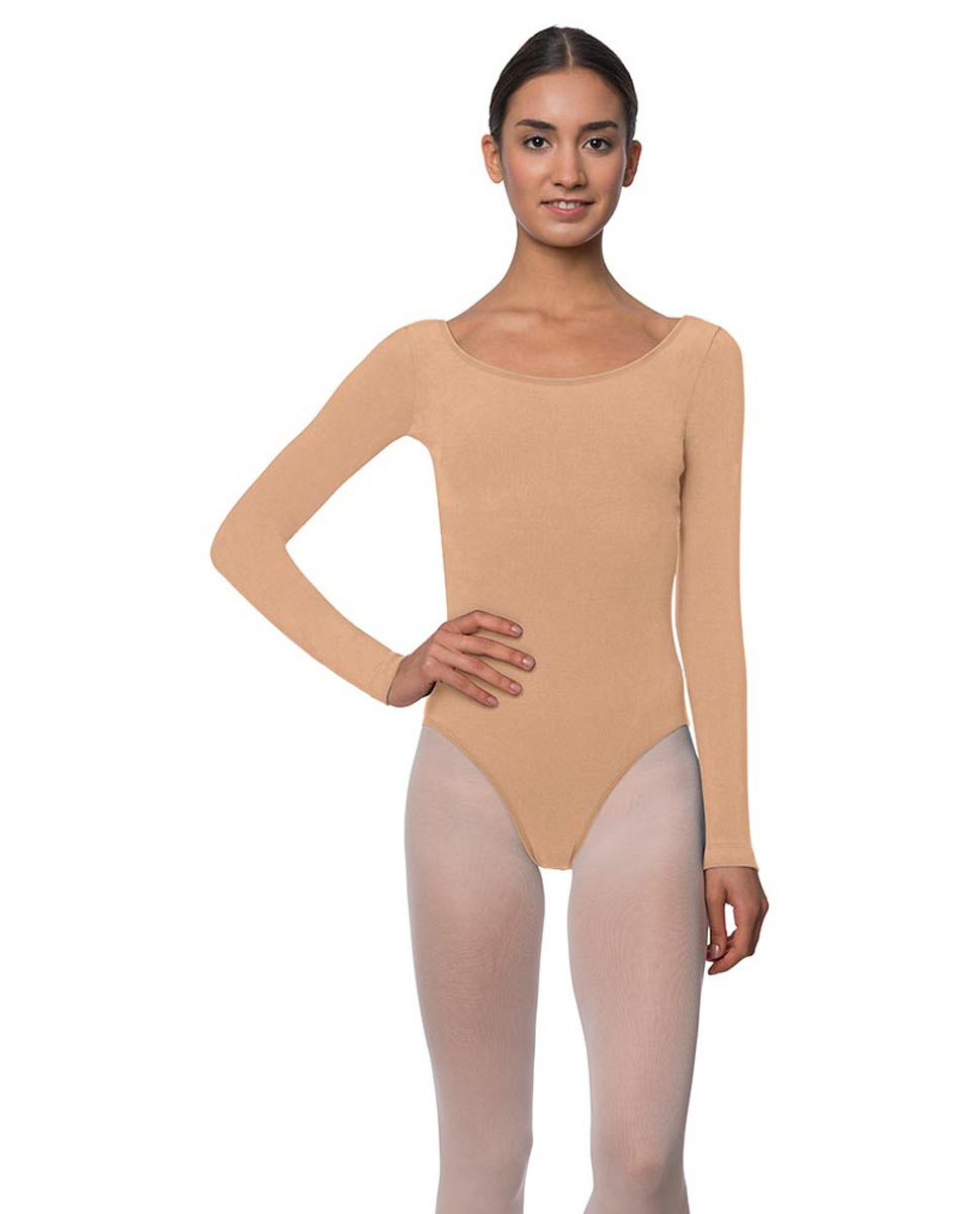 Long Sleeve Cotton Ballet Leotard Liv DNUD