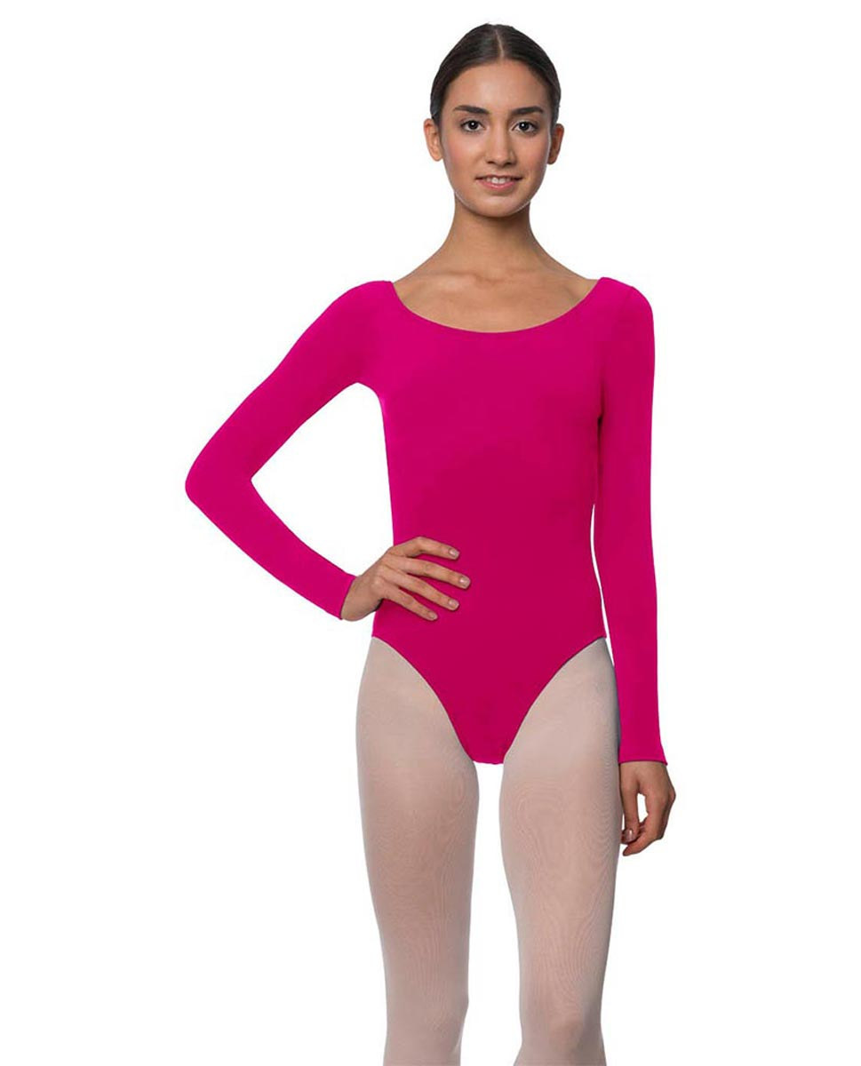 Long Sleeve Cotton Ballet Leotard Liv FUC