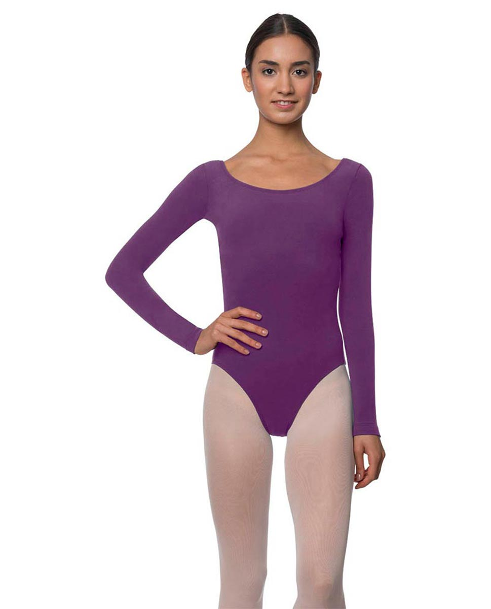 Long Sleeve Cotton Ballet Leotard Liv GRAP