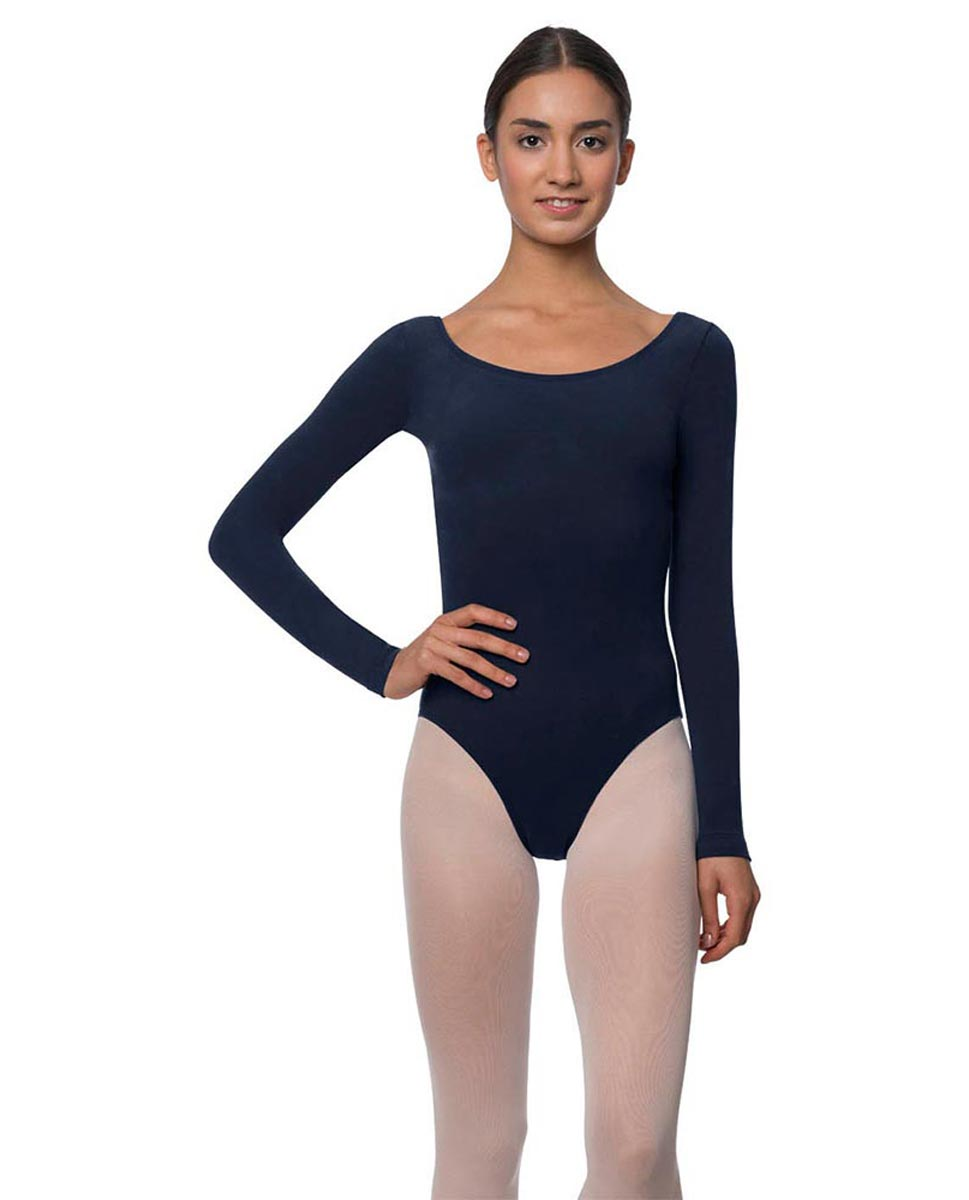 Long Sleeve Cotton Ballet Leotard Liv NAY