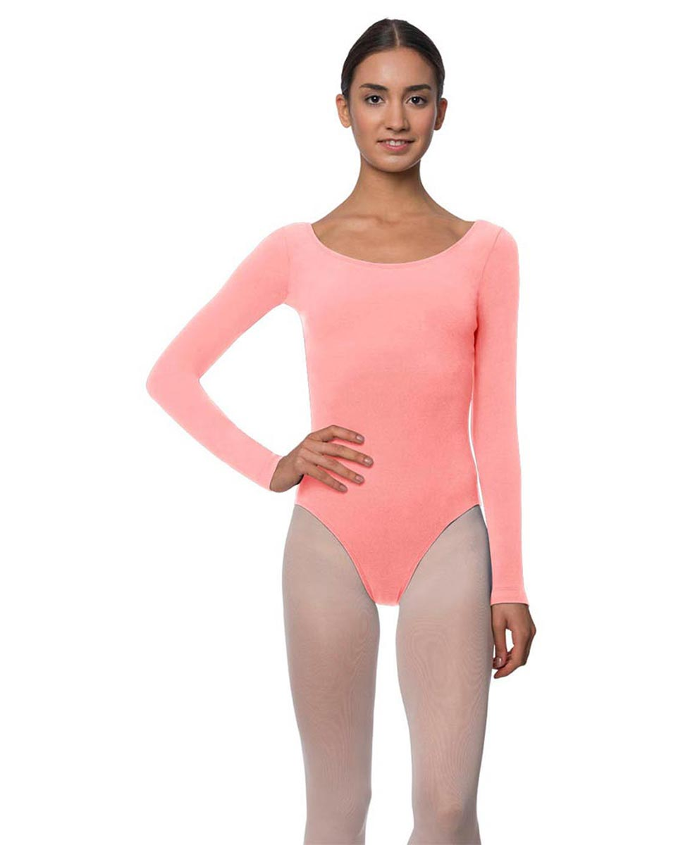 Long Sleeve Cotton Ballet Leotard Liv PEAC