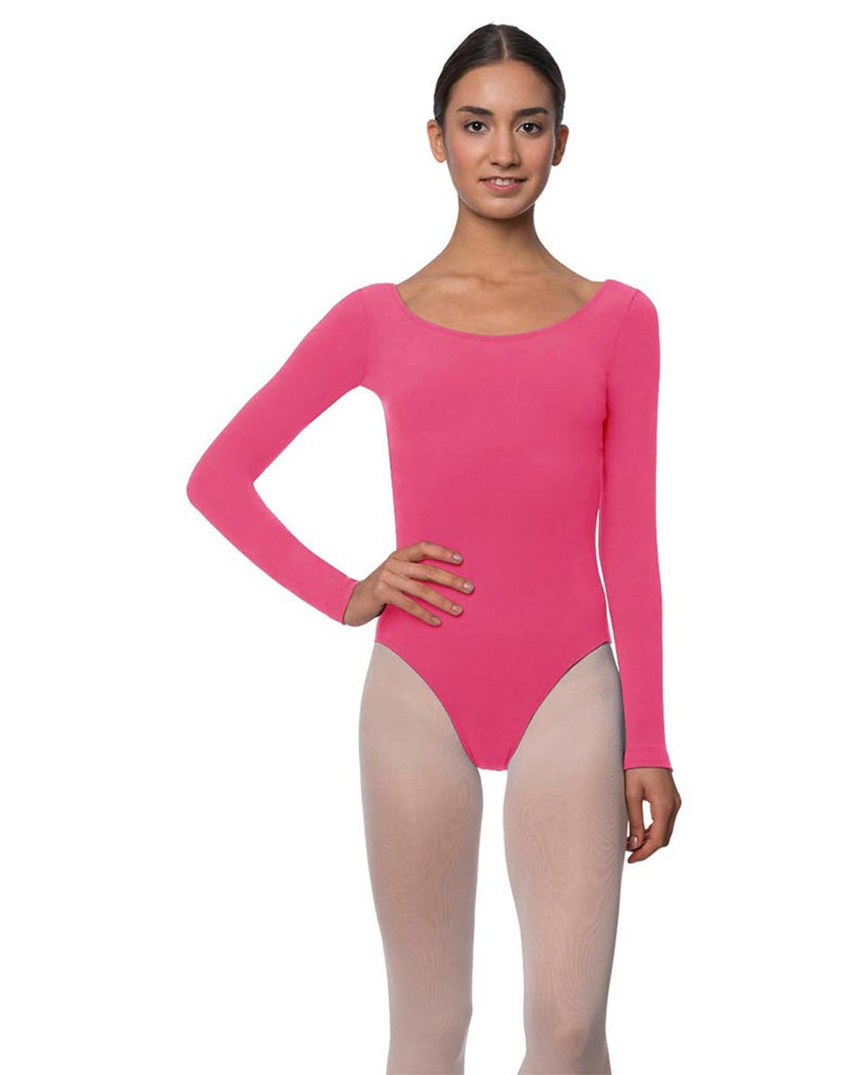 Long Sleeve Cotton Ballet Leotard Liv ROS